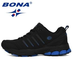 Image 4 - BONA chaussures de Sport dextérieur pour hommes, baskets de créateur, de course, de course, de course, de vache, tendance, nouvelle collection 2019