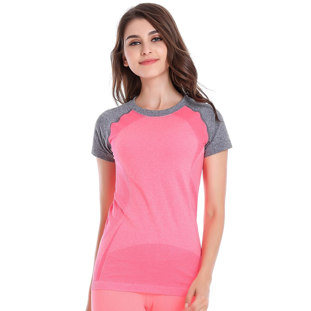New Trendy Womens Short Sleeve Fitness Gym Runing T-Shirt Active Sports Top Yoga sweatshirt 43BP