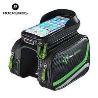 ROCKBROS Waterproof Bicycle Bag Touchscreen For 5 7 6 2 Cell Phone Bike Bag Folding MTB