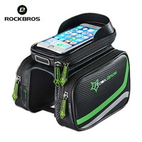 ROCKBROS Waterproof Bicycle Bag Touchscreen For 5 7 6 2 Cell Phone Bike Bag Folding MTB