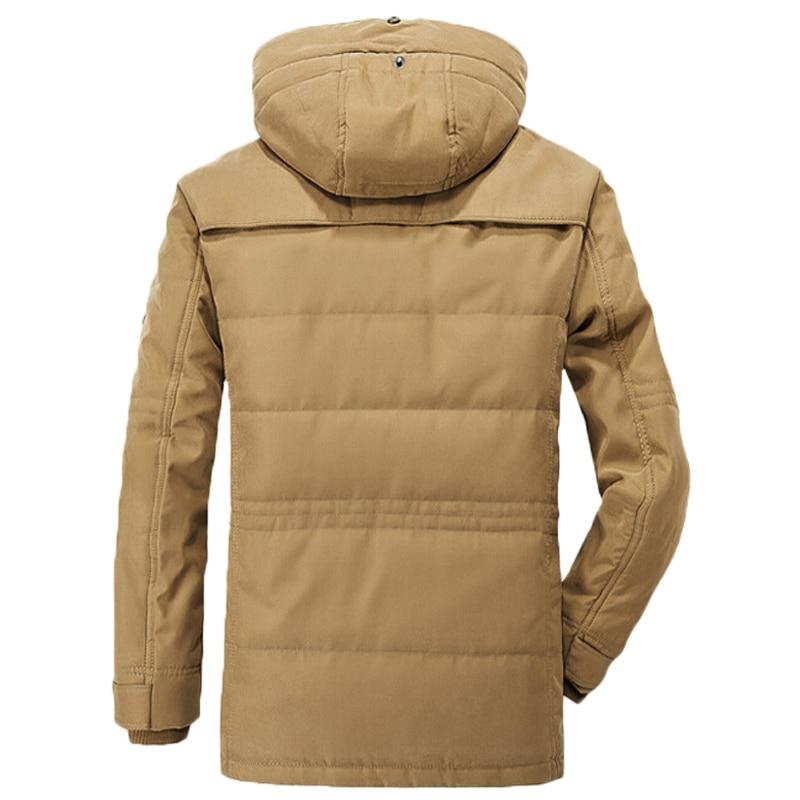 2019 Military Winter Jacke Männer Windjacke Dicke Warme Unten Mäntel Herren Outwear Parkas Jaqueta Masculino Militar Jacken Plus 4XL - 4
