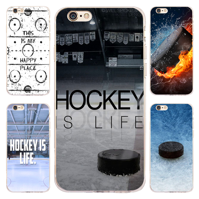 new style 71e2b 8a806 US $4.98 |Coque Sport Ice Hockey Clear Soft Silicone Phone Cases for iPhone  XS Max XR X 7 8 6 6S Plus 5S 5 SE 5C 4S iPod Touch 6 5 Cover-in Fitted ...