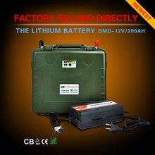 Перезаряжаемый UPS глубокий цикл солнечной энергии литий-ионный аккумулятор 12 В 200ah для хранения солнечной энергии Бесплатная доставка