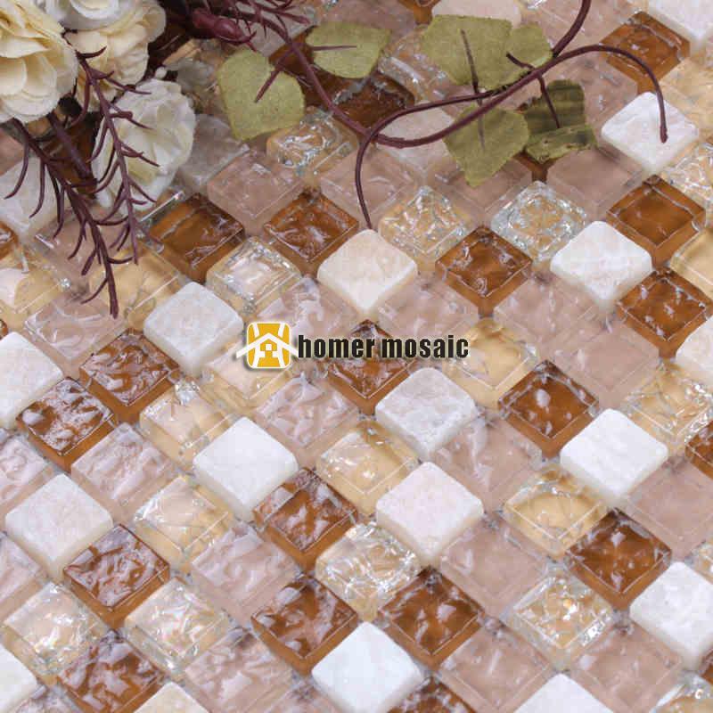 mini platz weien stein gemischten beige kristallglas mosaik fliesen fr wohnzimmer kche backsplash badezimmer kamin - Mosaikfliesen Wei