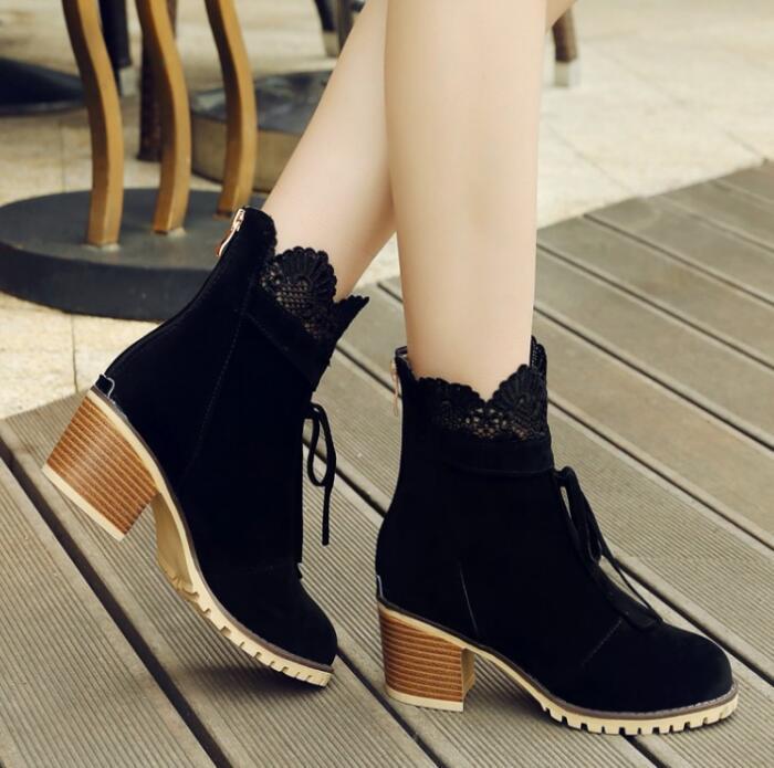 Pompes Chaussures Hiver red Chunky Mode Cheville black 22 Hauts Automne Plus 62 Femme Filles La Laides G61111 Bottes Parti yellow Taille Femmes Talons Beige R34AL5j