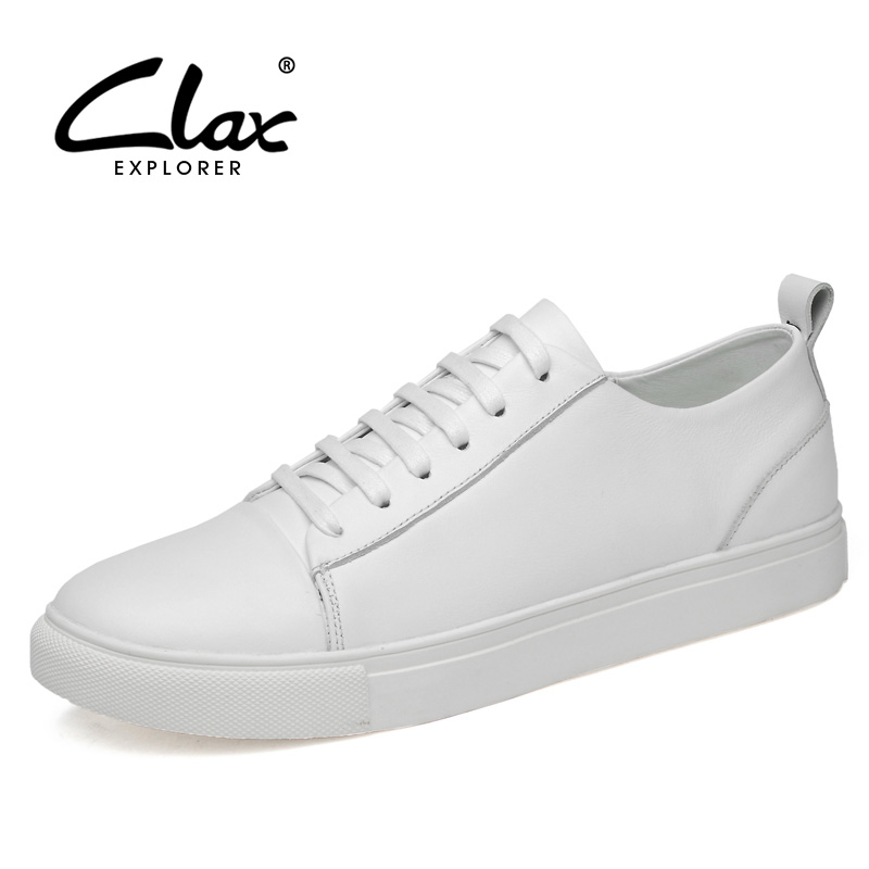 CLAX Mens Leather Shoes White Casual Shoes Male Spring Autumn Fashion Walking Footwear Sneakers Mans Shoe chaussure homme SoftCLAX Mens Leather Shoes White Casual Shoes Male Spring Autumn Fashion Walking Footwear Sneakers Mans Shoe chaussure homme Soft