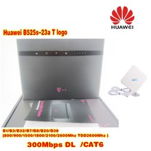 unlocked Huawei B525s-23a T logo 4G LTE Cat6 300M Wireless Router 4 x RJ45 Gigabit Ethernet ports plus 4g antenna