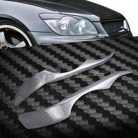 Carbon Fiber Headlight Cover Eyebrows Eyelid Trim Sticker For Lexus IS200 1999 2008