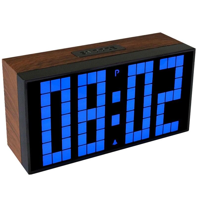CHKOSDA Office Electronic Alarm Clock Wooden Timer Stopwatch Meteo Station Clock Table Electronics Desk Clocks Despertador