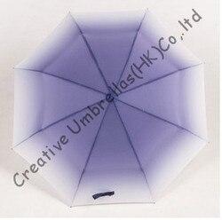 Kreatywny kieszonkowy mini parasol  OX styl  parasol  segmentu b  parasole koloru gradientu  stopniowo zmienia kolor  księżniczka parasole