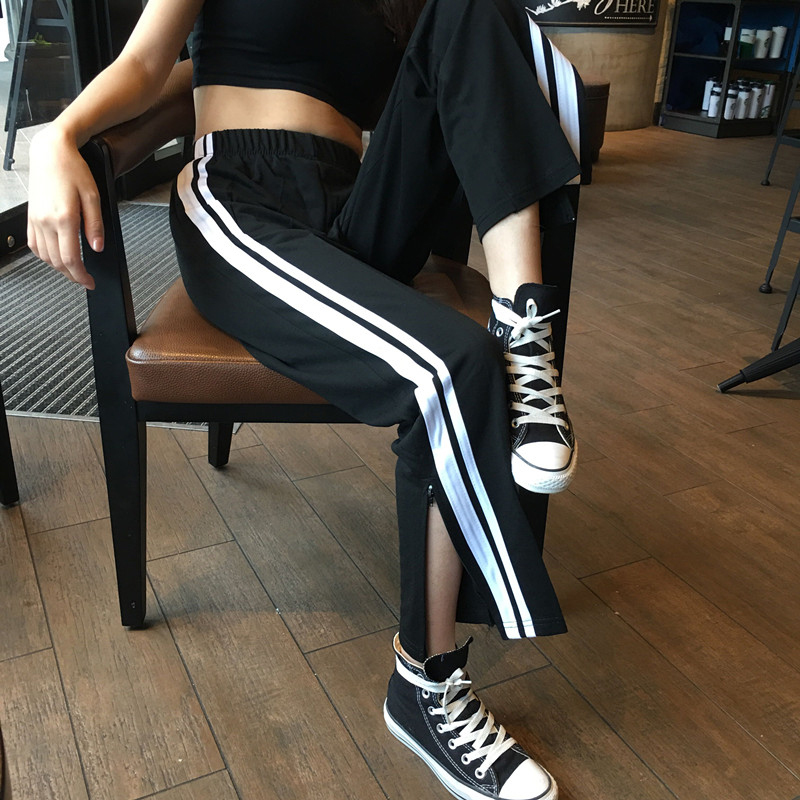 Mihoshop Ulzzang Korean Korea Women Fashion Clothing High Waist Trousers Loose   Wide     Leg     Pants