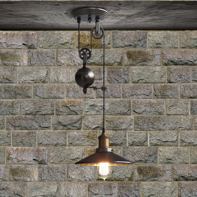 Industrial Rise And Fall Pendant Light: Rise And Fall Pendant Lamps Contemporary Hanging Pendant