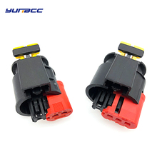 цена на 2sets 2pins/3pins tyco auto wire harness Connector Sealed Sensor Fuel Injector Ignition coil plug 284556-1 284425-1 284426-1
