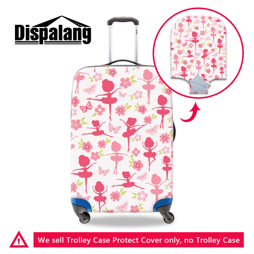 Dispalang Ballet Danceing Girl Spandex Anti dust Luggage Protector Fits 18 30 Inch Trolley Case Elastic Travel Suitcase Covers