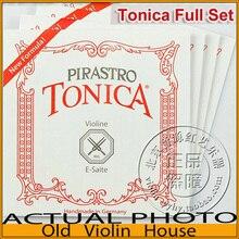 Оригинальные нейлоновые струны для скрипки Пирастро тоника(412021), новая формула, полный набор, сделано в Германии, лидер продаж