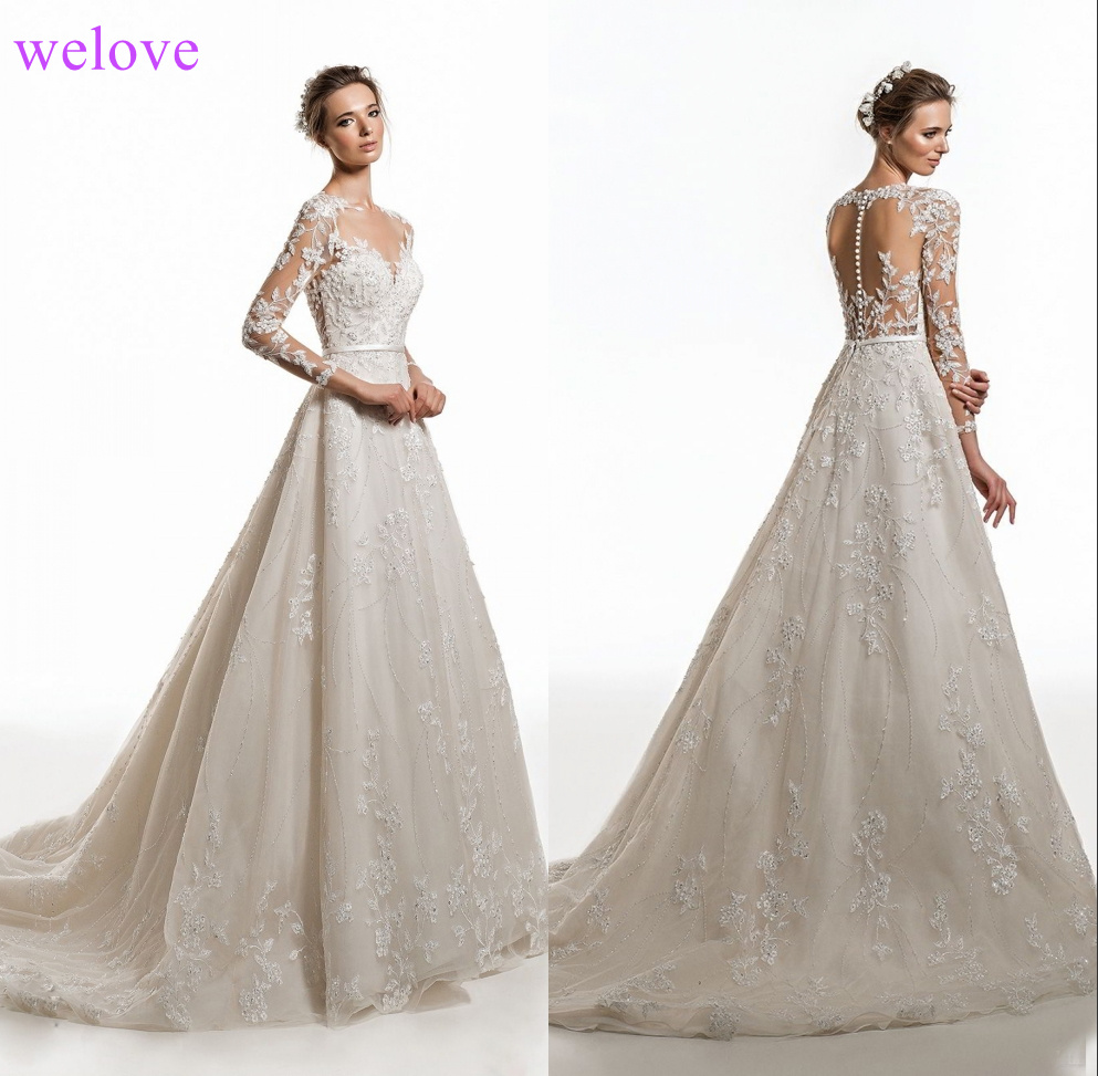 Customized Wedding Dress 2019 New Korean Style Handmade Wedding Gown Bridal Wedding dress White Princess Bride