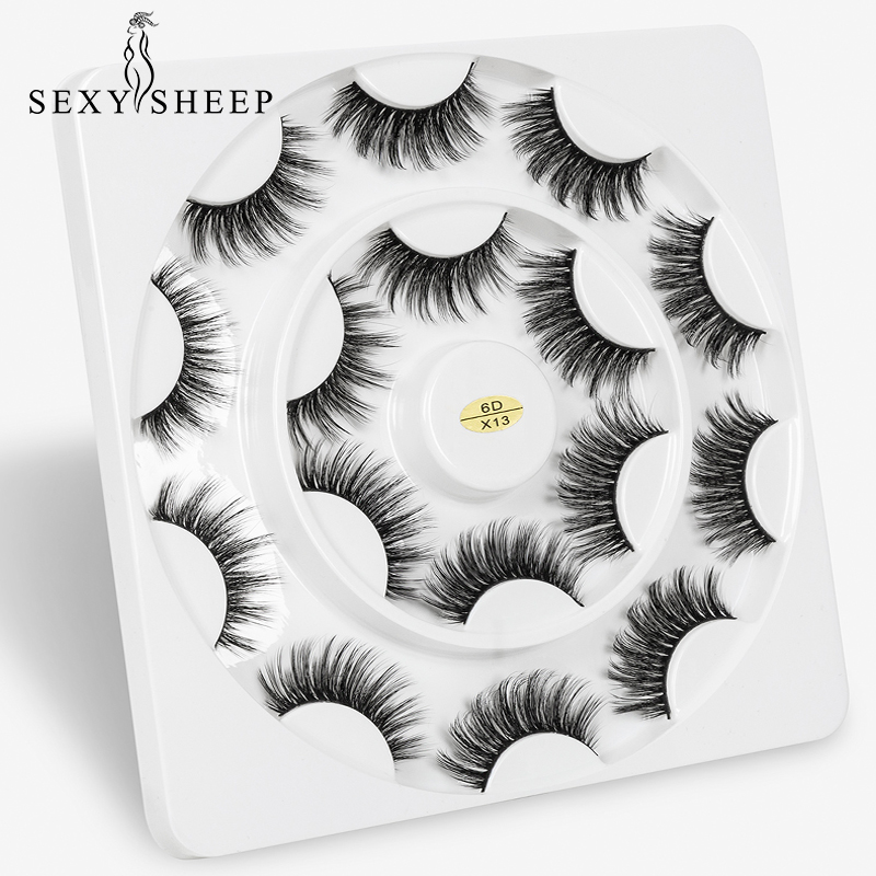 SEXYSHEEP 3/7/8pairs 3D Faux Mink Lashes Natural Long False Eyelashes Volume Fake Lashes Makeup Extension Eyelashes Maquiagem