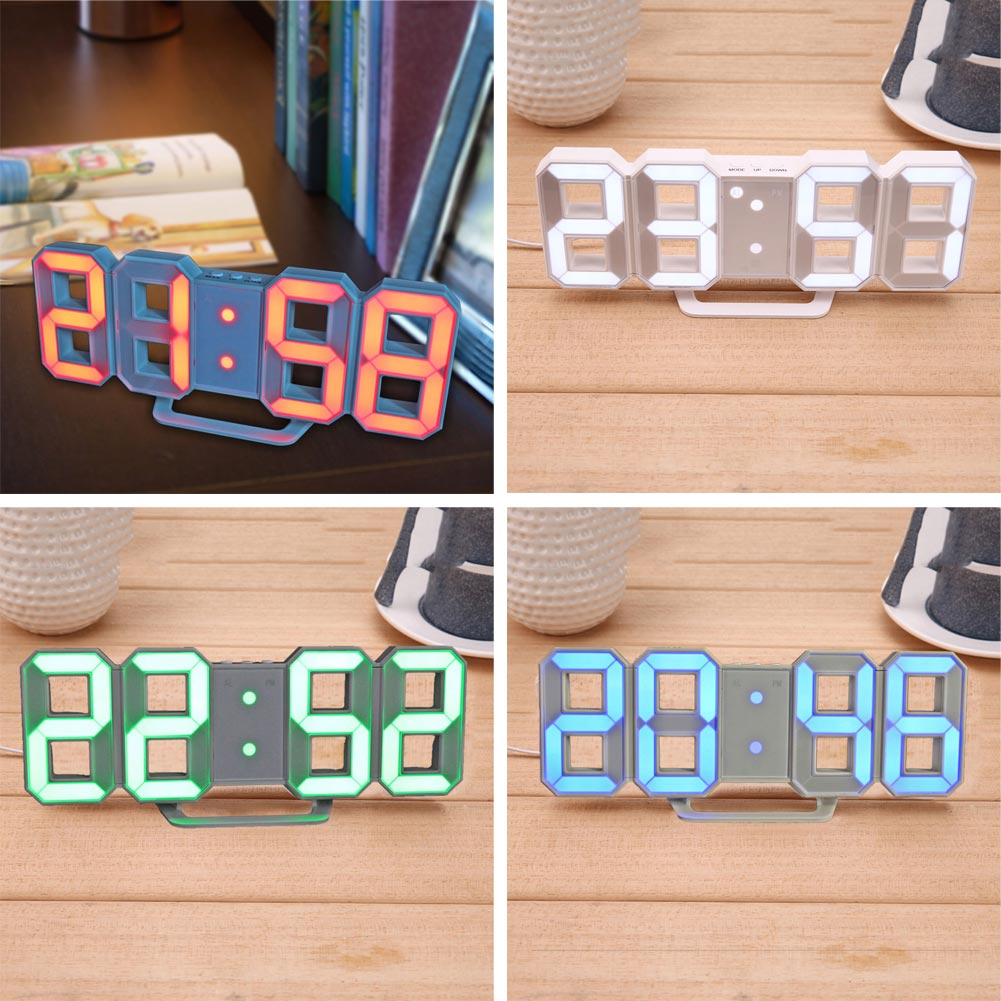Lights & Lighting Led Lamps Hard-Working 8-shape 3d Led Digital 12/24hour Table Desk Alarm Clock Wall Decoration Refreshing And Beneficial To The Eyes