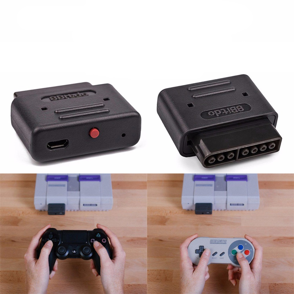 8bitdo retro receiver with micro usb cable for all systems with an snes style controller port. Black Bedroom Furniture Sets. Home Design Ideas