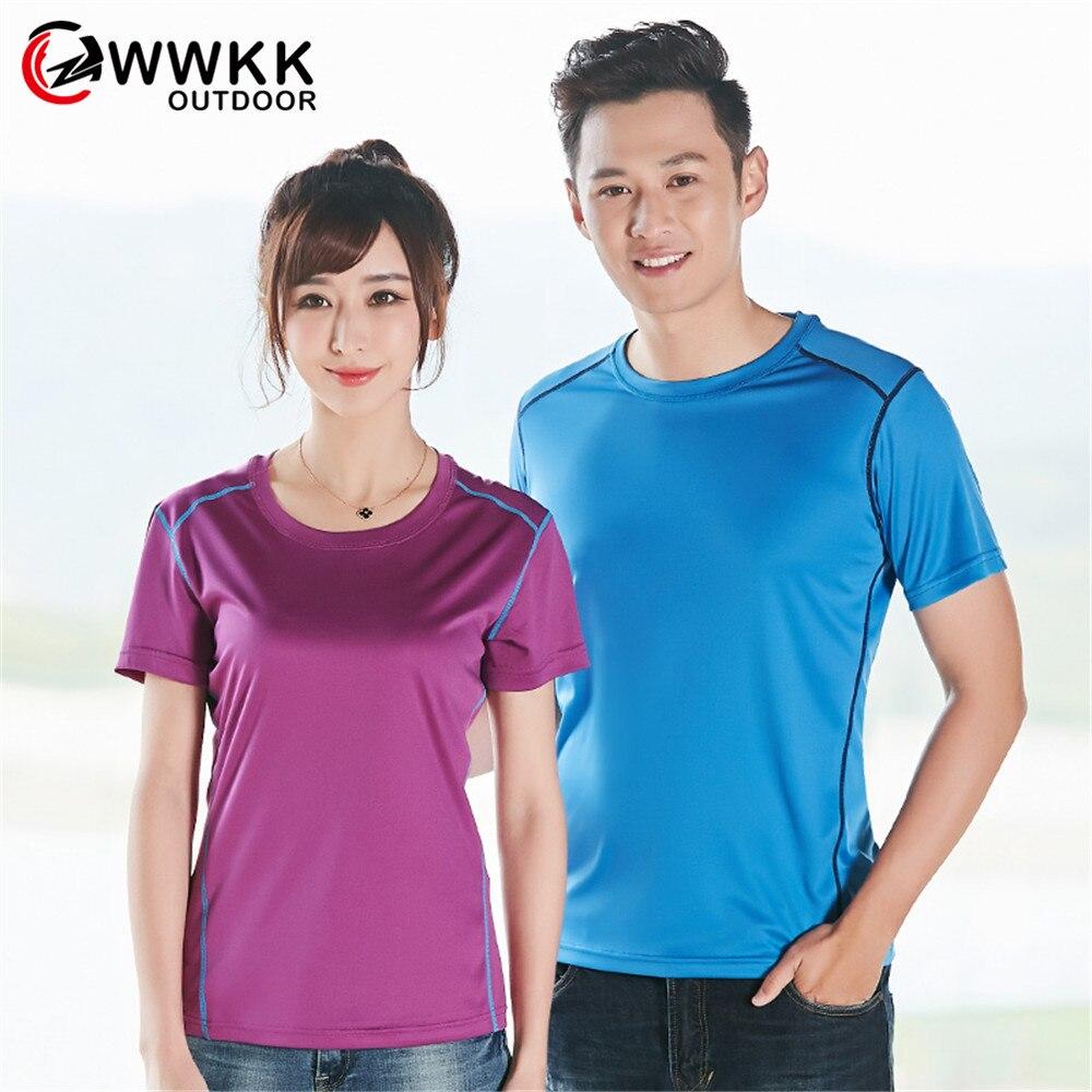 Мужская/женская уличная футболка WWKK, дышащие однотонные футболки с круглым вырезом, быстросохнущие легкие футболки для фитнеса, компрессио...
