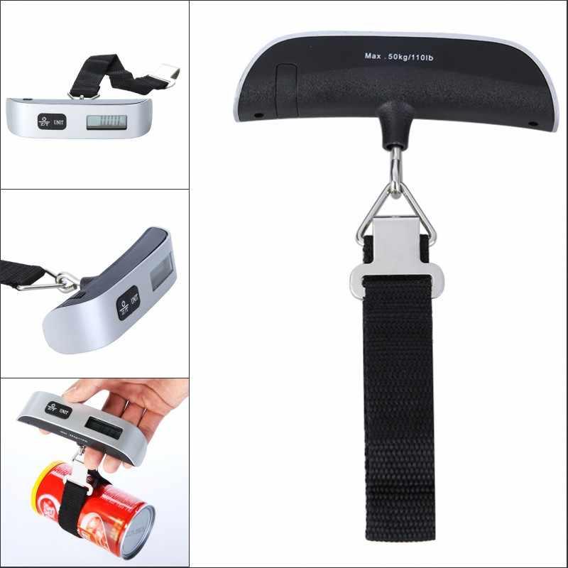 Mini Escala de Equilíbrio de Peso Digital Escala de Bagagem Portátil Eletrônico Escala Display LCD Ponderação para Viagens 50 kg * 10g 110Lb * 0.02Lb