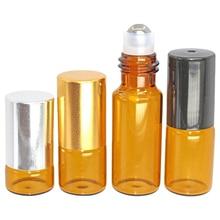 5ml ball perfume sub-bottle brown bead oil bottle portable brown ball bottle 5pcs perfume sub-bottle