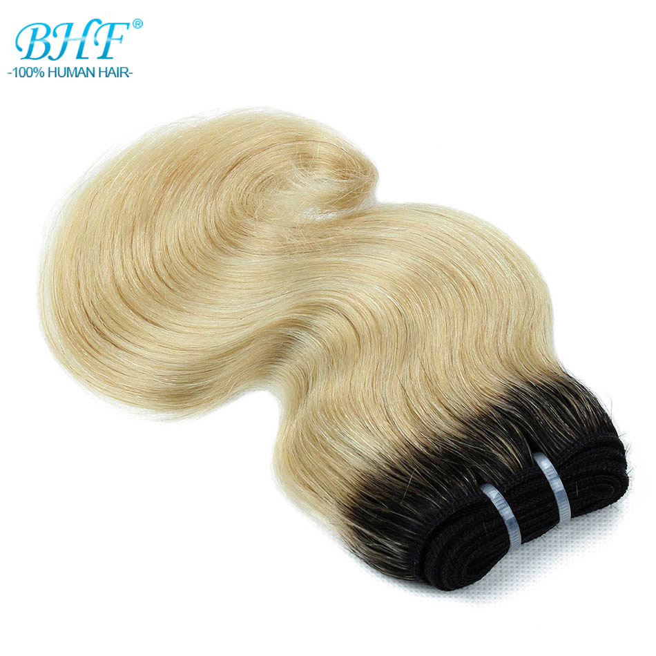 Image 2 - BHF 100% Human Hair Body Wave 3pcs lot With Closure Non remy 8inch 50g/pack Hair Extensions-in 3/4 Bundles with Closure from Hair Extensions & Wigs