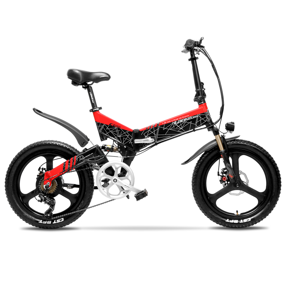 Cyrusher 48V 500W Electric Bicyle ebike Beach Cruiser font b Bike b font Booster Bicycle Folding