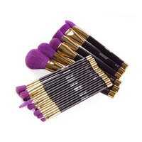 15 Pcs Set Foundation Blending Brush Kabuki Makeup Cosmetic Brushes Set
