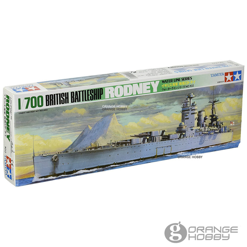 OHS Tamiya 77502 <font><b>1</b></font>/<font><b>700</b></font> British BattleShip Rodney Water Line Ver. Assembly <font><b>Scale</b></font> <font><b>Model</b></font> Building Kits G image