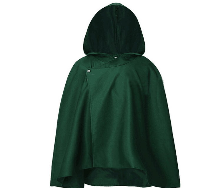Anime Attack on Titan Cloaks Cosplay Costume Scout Regiment Legion Carnaval Halloween Party Eren Jaeger Green Cape Mens
