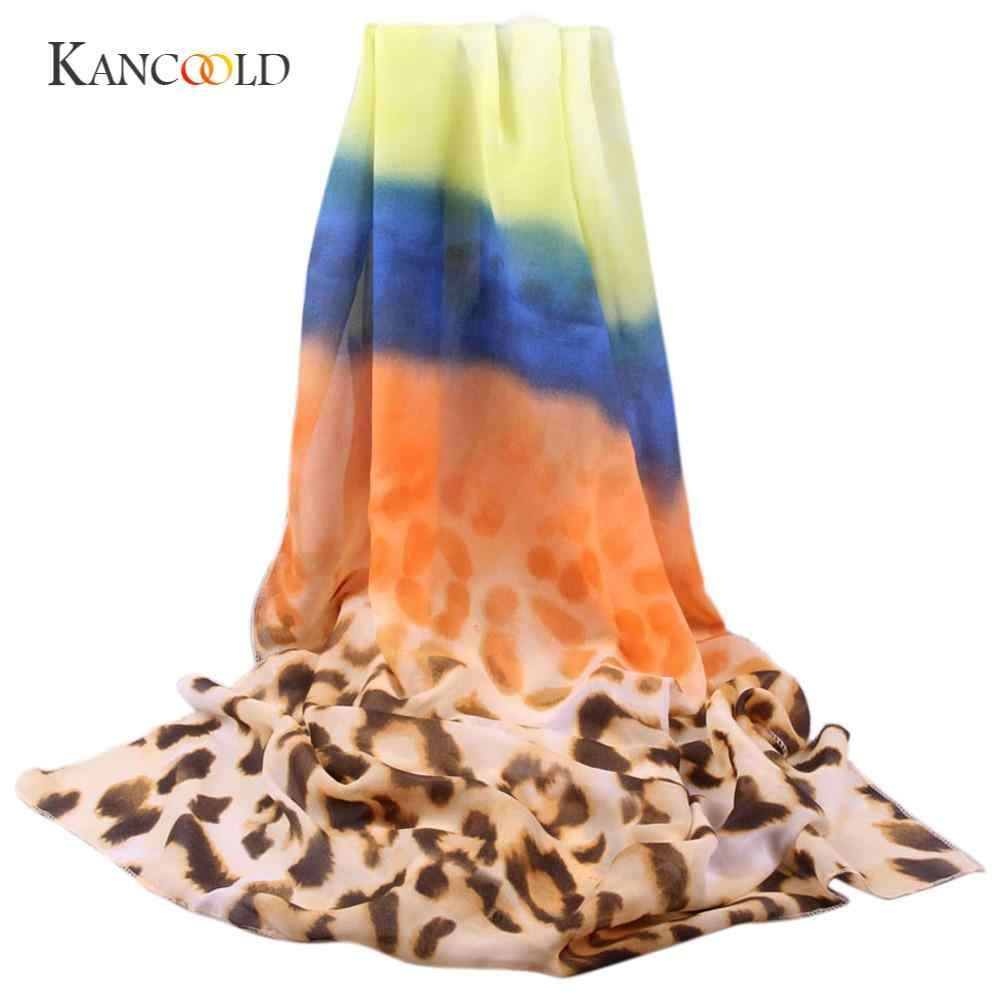 KANCOOLD 靴下女性のファッションファッションカジュアル女性ロングソフトラップスカーフ女性ショールシフォンスカーフスカーフ PFEB23