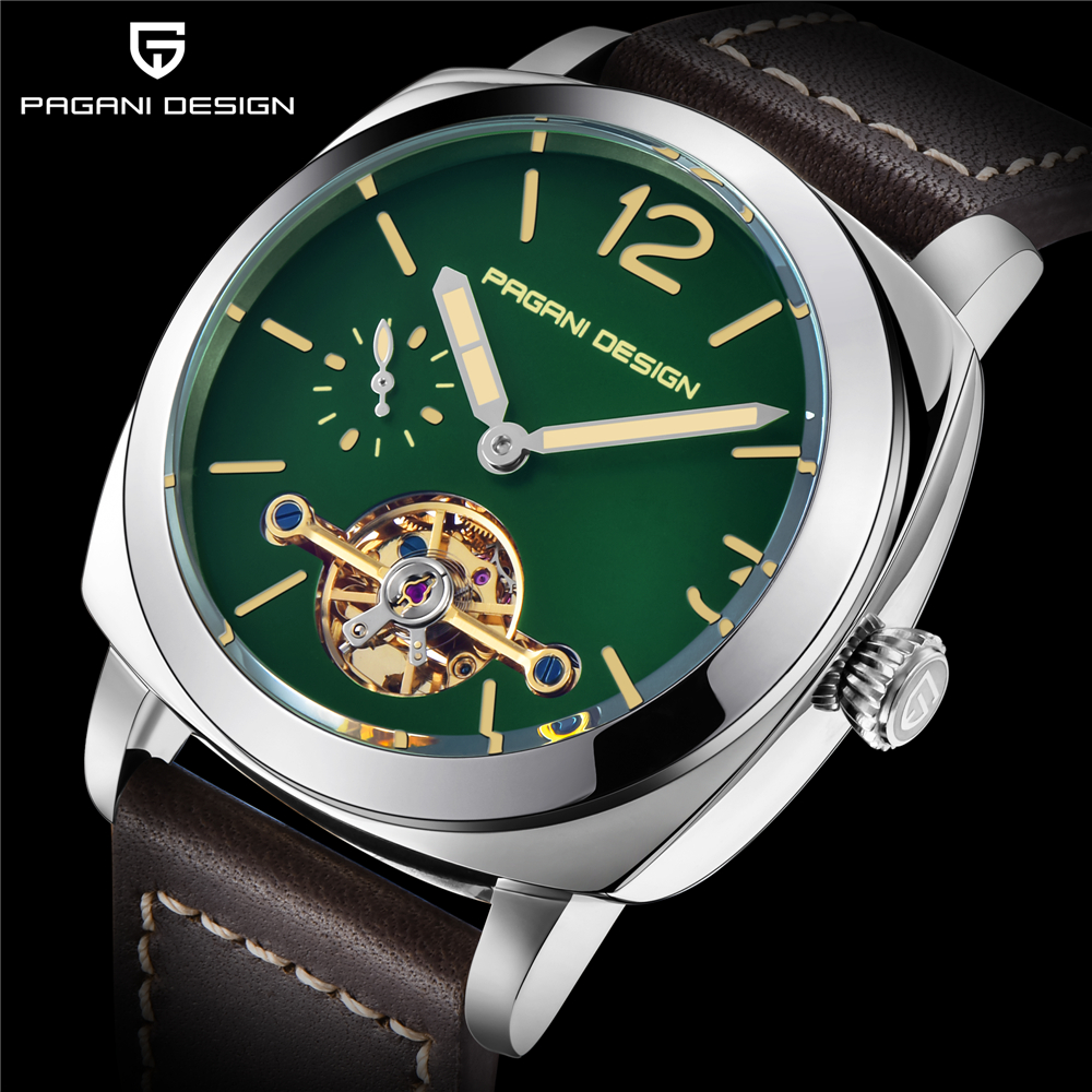 PAGANI DESIGN Top Brand Luxury Mens Automatic Mechanical Watch High Quality Leather Military Waterproof Watch Relogio MasculinoPAGANI DESIGN Top Brand Luxury Mens Automatic Mechanical Watch High Quality Leather Military Waterproof Watch Relogio Masculino