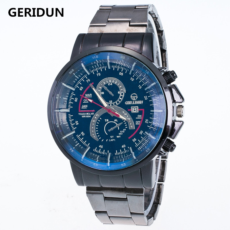 Top Brand Business Men Male Luxury Watch Casual Full steel Calendar Wristwatches quartz watches  montre homme Relogio Masculino