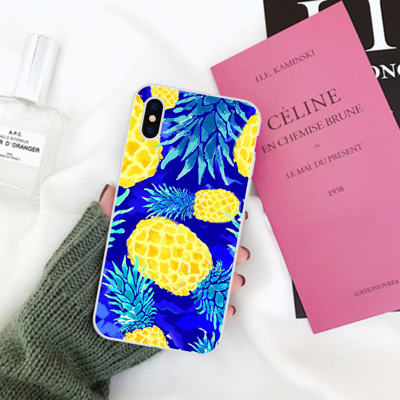 LAUGH LIFE Phone Case For iPhone 5S Fashion Summer Golden Pineapple Tropical Fruit Cases Back Cover Hot Selling Banana Shell in Fitted Cases from Cellphones Telecommunications