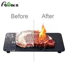 Быстро размораживающий лоток для замороженных продуктов тарелка для разморозки мяса рыбы в считанные минуты безопасный способ разморозки мяса лоток кухонный инструмент