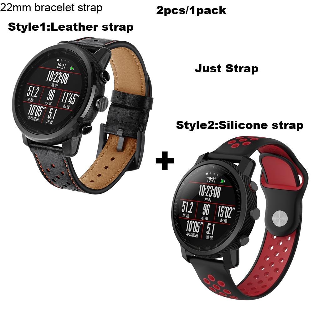 Watch Amazfit Bracelet Band for Xiaomi Huami Amazfit Pace Correa Wristband for Xiaomi Amazfit Stratos 2 Strap Samsung Gear S3