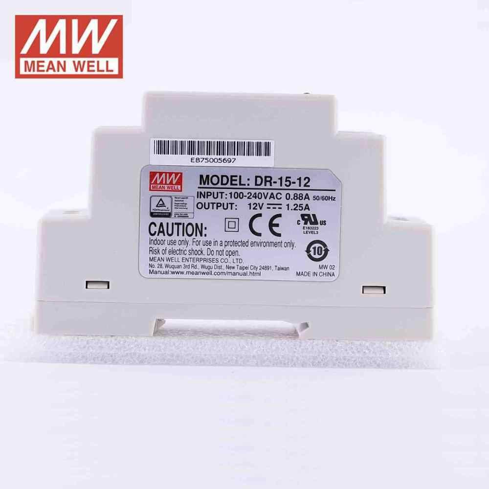 automatisation Mean well bloc d/'alimentation dr-15-24 24vdc 0,63a 15w LED trennrelais