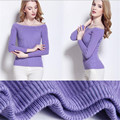 2016 new fashion women sexy off shoulder casual Slim Elastic pullover sweater poncho knitted Pullovers oversized knitwear tops