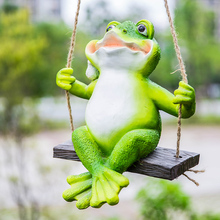 Creative simulation frog decorative ornaments home decoration garden courtyard resin craft animal pendant цена