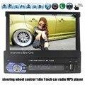 Горячие продажи bluetooth сенсорный экран управления рулевого колеса 1 Din 7 7-дюймовый Автомобильный Стерео Радио MP5 MP4 Плеер HD В Тире FM/TF/USB/AUX