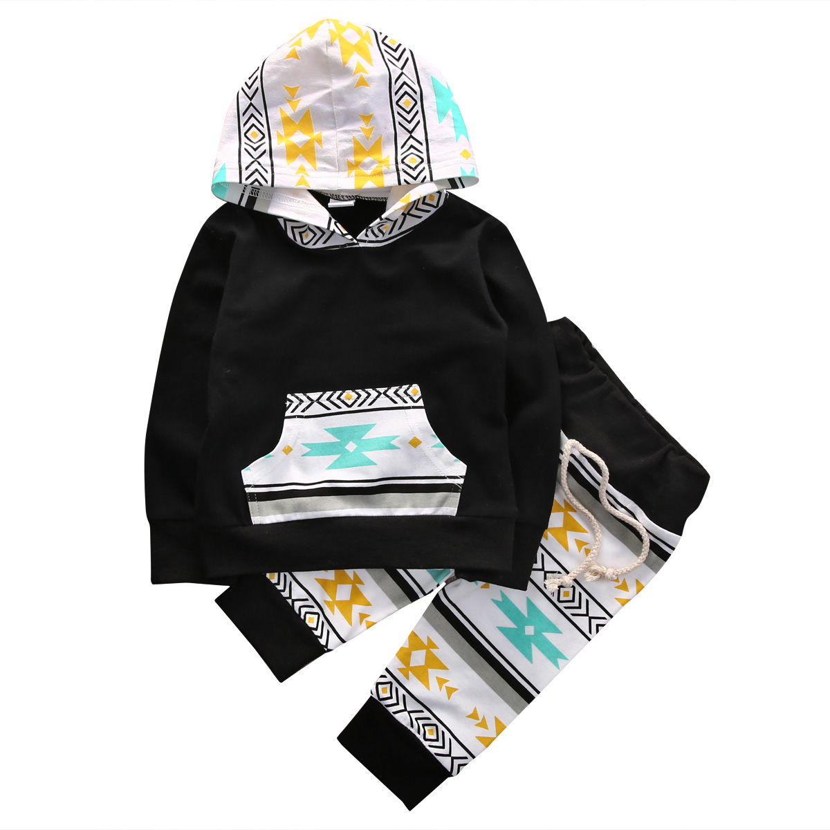 New Style Fashion Casual Toddler Baby Boy Girls Clothes 2PCS Cotton Hooded Sweatshirt Long Sleeve Tops Pants Leggings Outfit Set hot 0 4y toddler baby boy girl clothes long sleeve hooded t shirt tops and striped pant 2pcs outfit kids clothing set tracksuit