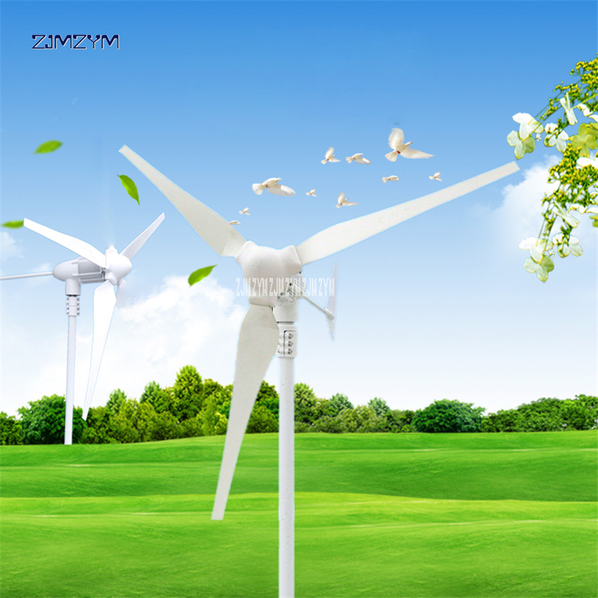 Wind Turbine Blade 3 Aerogenerator 24v Windmill Generator 740r / m Small Wind Power Generator 12v Wind Turbina Generator Z-500WWind Turbine Blade 3 Aerogenerator 24v Windmill Generator 740r / m Small Wind Power Generator 12v Wind Turbina Generator Z-500W