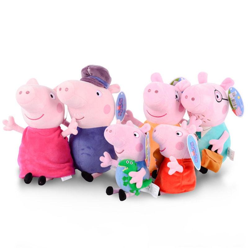 Original Peppa Pig 30cm Stuffed Plush Toys Peppa & George Pig For Kids Gifts Soft Plush Toys For Children