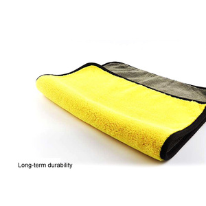 Image 5 - 30*30/60 CENTIMETRI di Lavaggio Auto Asciugamano In Microfibra giallo grigio lati Pulizia Asciugatura Rapida Towe velluto di Corallo doppio  su due lati designCar Tovagliolo di Lavaggio