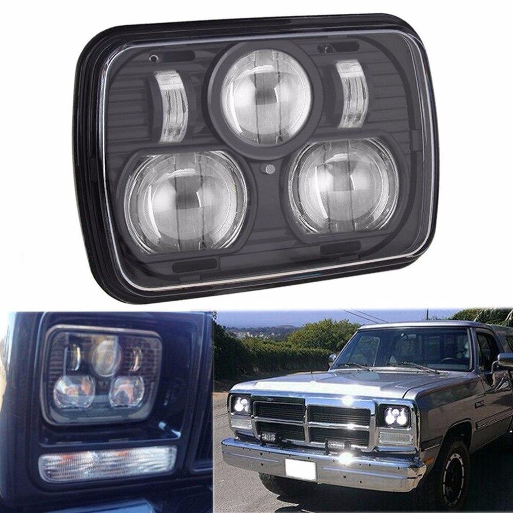 """""""2х внедорожник 5"""""""" х 7"""""""" 65 Вт SquareTruck LED замена фары дальнего света для джип Вранглер ый грузовик Чероки XJ в Команчи МЮ"""""""