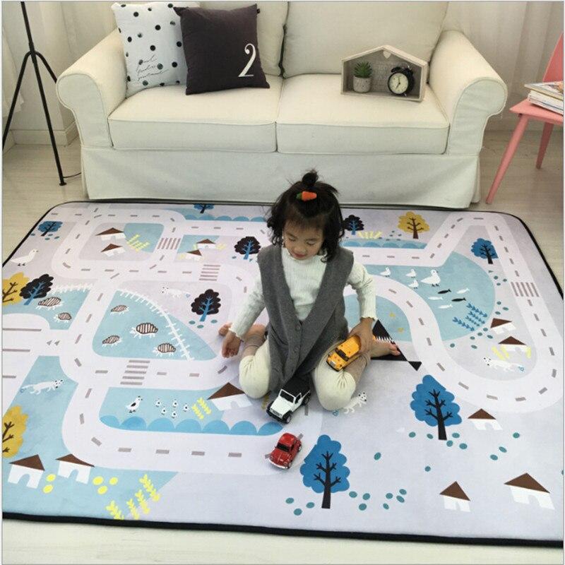 Nouveau mode enfants jeu tapis enfants Gym tapis anti-dérapant ramper tapis tapis bébé jouets pochette de rangement organisateur bébé jouer jeu tapis