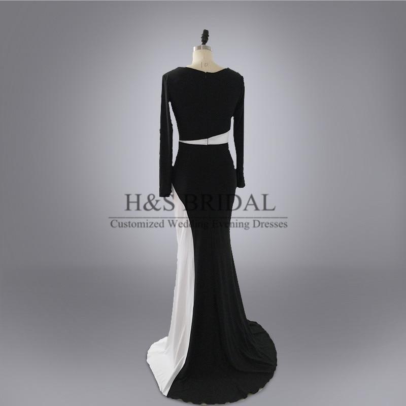 Real Photo Custom Made Vestidos Evening Prom Dress Designer Black