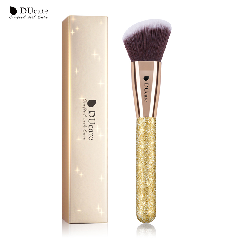 DUcare 1 PC Contour Brush Angled Sculpting Brush Powder Blush Blend Makeup Brushes Cosmetic Tools 2017 new 6w rgb led plastic fiber optic star ceiling kit light 17key remote optical fiber lights engine page 3 page 3