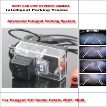 Dynamic Guidance Rear Camera For Peugeot 307 Sedan Estate 2001~2008 / 580 TV Lines HD 860 * 576 Pixels Parking Intelligentized